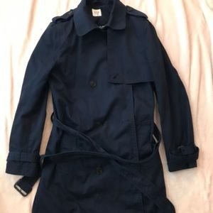 Gap Navy Classic Trench Coat Size L